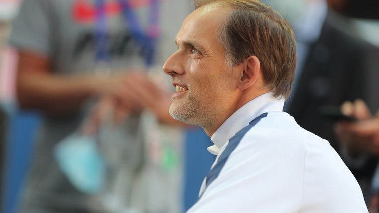 Thomas Tuchel, l'entraineur du Paris Saint-Germain. (MIGUEL A. LOPES / POOL)