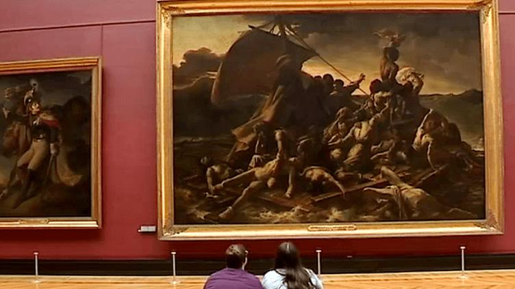 """""""Le radeau de la Méduse"""" de Géricault, exposé au musée du Louvre  (France 3 / Culturebox)"""