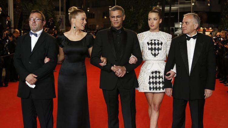 Lea Seydoux, Abdellatif Kechiche, Adele Exarchopoulos, Brahim Chioua  (Valérie Hache/AFP)