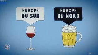 le dialogue social en Europe. Extrait de L'Angle éco du 8 décembre 2014 ( CAPTURE ECRAN FRANCE 2)