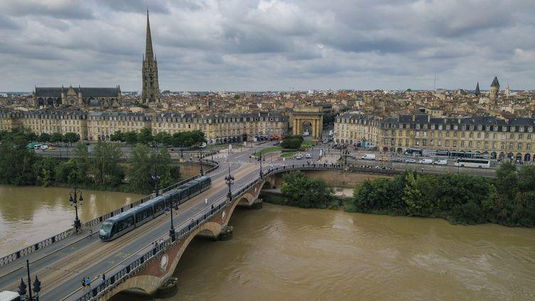 Vue aérienne sur Bordeaux, le 24 janvier 2020. (J-B NADEAU / ONLY FRANCE / AFP)