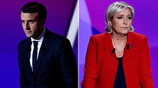 Les deux candidats au second tour de l'élection présidentielle, Emmanuel Macron et Marine Le Pen. (MAXPPP)