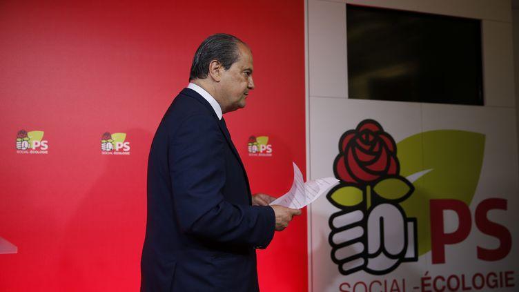 Le premier secrétaire du PS, Jean-Christophe Cambadélis, à Solférino, le 11juin2017. (GEOFFROY VAN DER HASSELT / AFP)