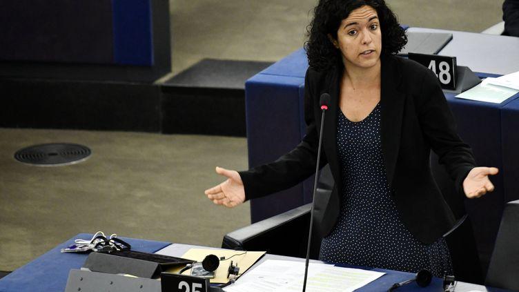 Manon Aubry au Parlement européen le 17 septembre 2019. (ALEXANDRE MARCHI / MAXPPP)