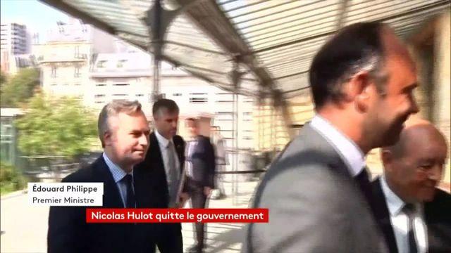 """VIDEO. """"J'ai aimé travailler avec lui"""", réagit Edouard Philippe après la démission de Nicolas Hulot"""