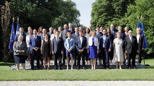Le deuxième gouvernement d'Edouard Philippe présenté à Paris le 22 juin 2017. (THOMAS SAMSON / AFP)