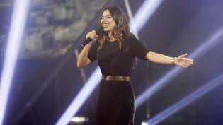 Alma, représentante de la France au concours de l'Eurovision, le 25 février 2017 à Kiev (Ukraine). (MAXPPP)