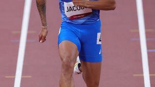 Marcell Jacobs a apporté une médaille d'or historique à l'Italie sur 100 m, le 1er août 2021. (GIUSEPPE CACACE / AFP)