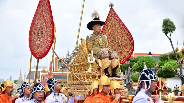 Le roi Maha Vajiralongkorn, ouRama X, après son couronnement, le 4 mai 2019. (HANDOUT / THAI ROYAL HOUSEHOLD BUREAU / AFP)