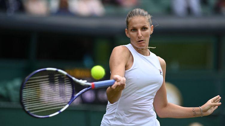 La TchèqueKarolina Pliskova est en finale de Wimbledon pour la première fois de sa carrière. (GLYN KIRK / AFP)