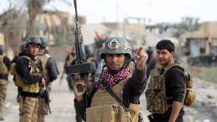 Un soldat irakien, le 27 décembre 2015 à Ramadi (Irak). (AHMAD AL-RUBAYE / AFP)
