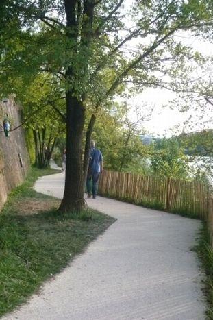 Le parcours qui suit la rivière propose au promeneur solitaire de s'extraire du vrombissement de la ville  (Odile Morain)