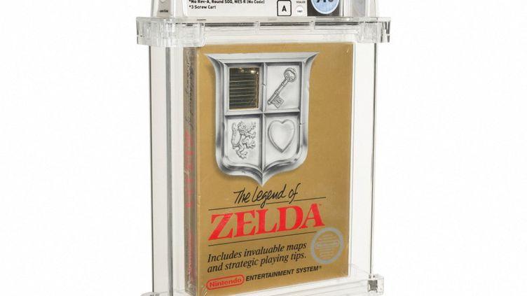 """Le jeu vidéo """"Zelda"""", vendupour 732 000 euros par la maison d'enchères Heritage Auctions le 9 juillet 2021. (HERITAGE AUCTIONS / AFP)"""