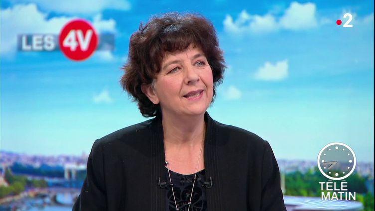 Frédérique Vidal, la ministre de l'Enseignement supérieur, sur France 2, le 22 janvier 2019. (FRANCE 2)