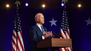 Joe Biden, le 6 novembre 2020 à Wilmington (Deleware). (ANGELA WEISS / AFP)
