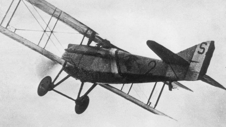 Le pilote françaisGeorges Guynemer dans son biplan Spad II le 11 septembre 1917. (AFP PHOTO)