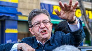Jean-Luc Melenchon, à Marseille (Bouche-du-Rhône), le 8 mars 2017.  (JULIE GAZZOTI / CITIZENSIDE / AFP)