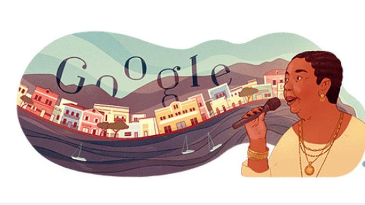 Le doodle dédié à la chanteuse capverdienne Césaria Evora (Google)