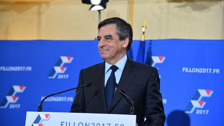 François Fillon, lors de son discours de victoire de la primaire de la droite, dimanche 27 novembre, à Paris. (CITIZENSIDE/FRANCOIS PAULETTO / CITIZENSIDE)