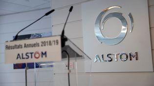 Les locaux du siège d'Alstom à Saint-Ouen (Seine-Saint-Denis) le 7 mai 2019 lors de la présentation annuelle des résultats du groupe. (THOMAS SAMSON / AFP)