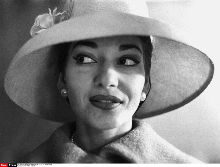Maria Calla en 1957. (SAMA/SIPA)