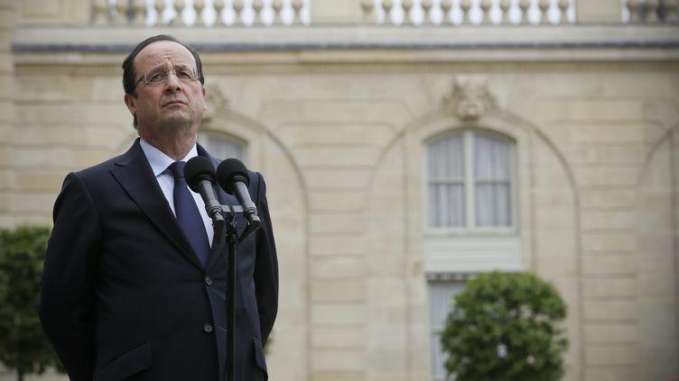 François Hollande à l'Elysée, le 12 juin 2013. ( MAXPPP)