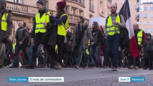 """""""Gilets jaunes"""" : trois mois de contestation après un nouveau samedi de mobilisation"""