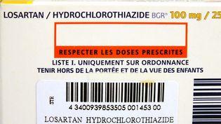 Une boîte de losartan, le médicament contre l'hypertension (illustration). (HOUIN / BSIP)