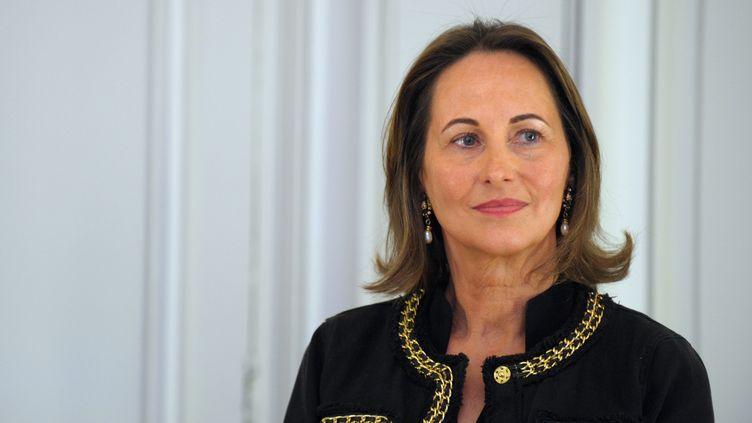 Ségolène Royal,présidente PS de la région Poitou-Charentes, le 22 avril 2013 à Paris. (ERIC PIERMONT / AFP)