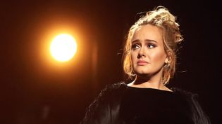 Adele aux Grammy Awards, le 12 février 2017 à Los Angeles  (Christopher Polk / Getty Images / AFP)
