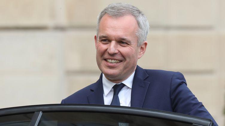 François de Rugy, alors ministre de la Transition écologique, le 7 mai 2019 à Paris. (LUDOVIC MARIN / AFP)