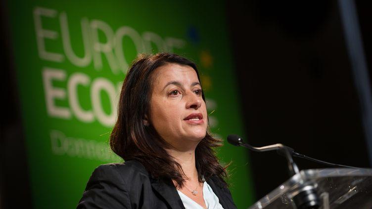 Cécile Duflot à Tours (Indre-et-Loire), le 14 mai 2014. (GUILLAUME SOUVANT / AFP)
