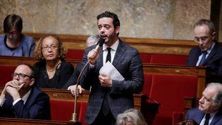Razzy Hammadi, porte-parole du PS et député de Seine-Saint-Denis, à l'Assemblée nationale en juin 2016. (THOMAS SAMSON / AFP)
