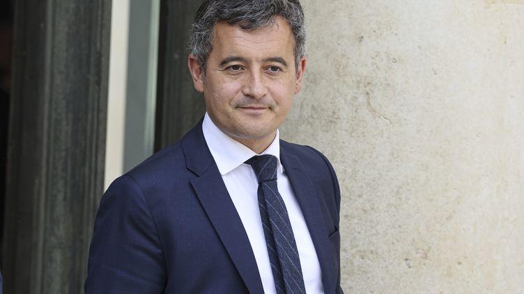 Gerald Darmanin, ministre de l'Interieur, a la sortie du Conseil des ministres du 29 septembre 2021. (SÉBASTIEN MUYLAERT / MAXPPP)