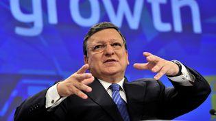 Le président de la Commission européenne, José Manuel Barroso, le 2 juin 2014 à Bruxelles (Belgique). (GEORGES GOBET / AFP)