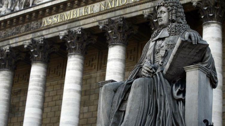 Le Palais-Bourbon, où siège l'Assemblée nationale, à Paris. (JOEL SAGET / AFP)
