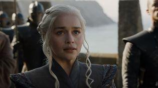 """Daenerys Targaryen dans la bande-annonce de la saison 7 de """"Game of Thrones"""", dévoilée le 24 mai 2017 par HBO. (GAME OF THRONES / HBO)"""