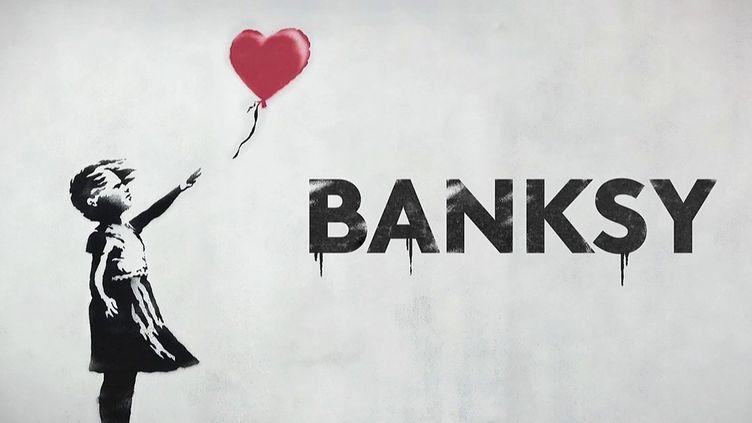 """Art contemporain : l'iconique """"Petite Fille au ballon"""" de Banksy (France 2)"""