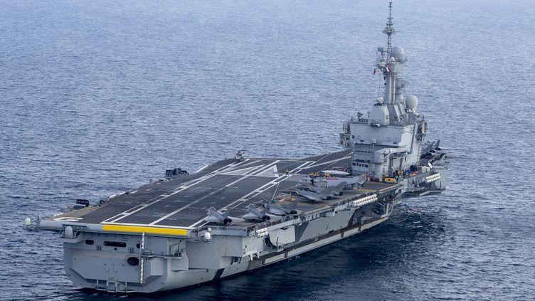 Le porte-avions Charles-de-Gaulle, le 14 novembre 2018. (MAXPPP)