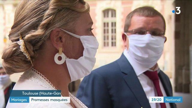 Mariages : des promesses masquées, à l'heure du coronavirus