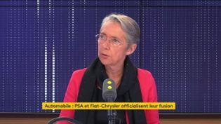 Elisabeth Borne,ministre de la Transition écologique et solidaire, sur franceinfo jeudi 31 octobre. (FRANCIENFO / RADIO FRANCE)