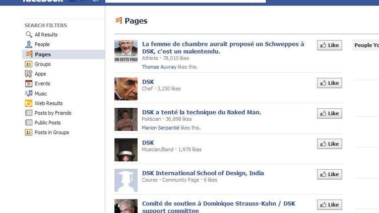 Capture d'écran du site Facebook. (FTVi)