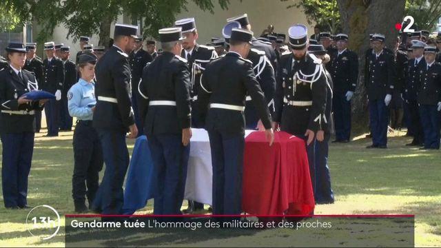 Gendarme tuée : l'hommage des militaires et des proches