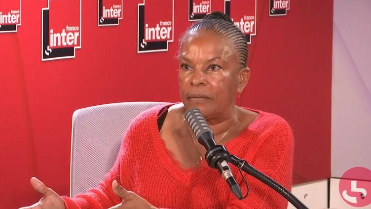 Christiane Taubira, l'ancienne ministre de la Justice, invitée de France Inter, le 11 septembre 2020. (FRANCEINTER / RADIOFRANCE)
