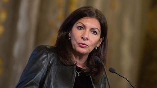 La maire de Paris, Anne Hidalgo, le 11 décembre 2017 à l'Hôtel de ville de la capitale. (MAXPPP)