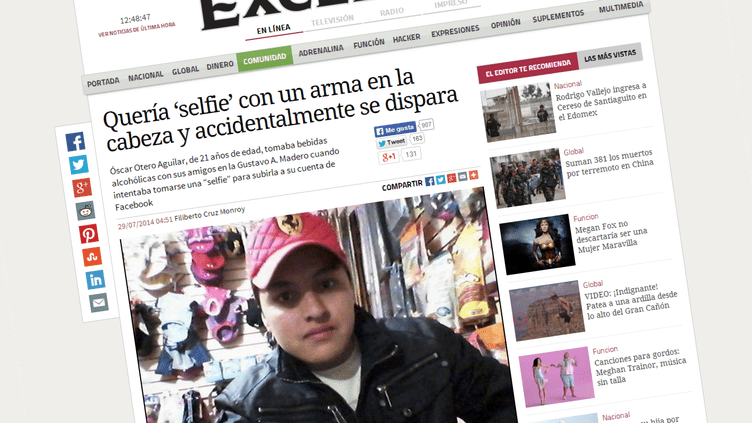 Le jeune Mexicain était vraisemblablement ivre lorsqu'il s'est tiré accidentellement une balle dans la tête, rapporte la presse locale. (EXCELSIOR)