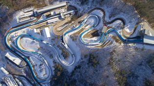 La piste de bobsleigh des JO d'hiver en Corée du Sud àPyeongchang, le 17 janvier 2018. (LUI SIU WAI / XINHUA)