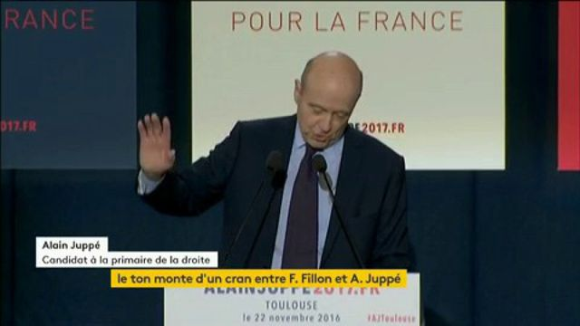 """Les """"soutiens d'extrême droite arrivent en force"""" auprès de Fillon, selon Juppé"""