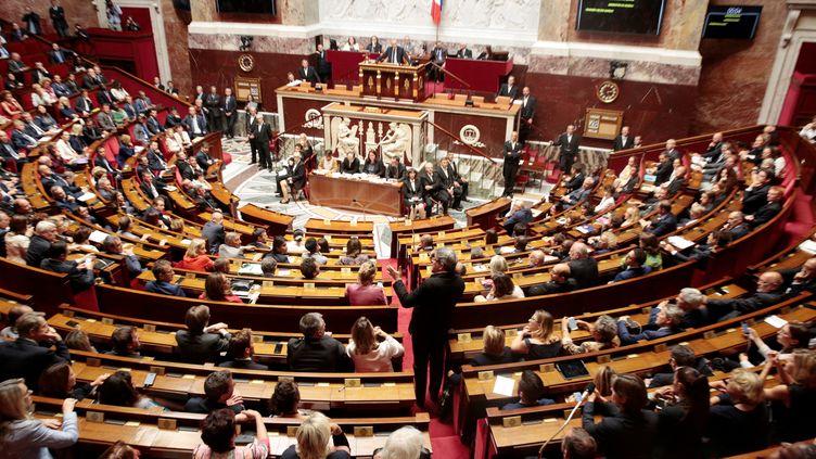 Le président du groupe La France insoumise à l'Assemblée nationale, Jean-Luc Mélenchon, le 28 juin 2017. (GEOFFROY VAN DER HASSELT / AFP)