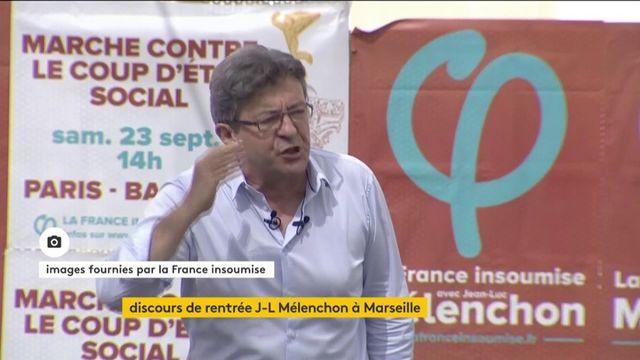 """Mélenchon : """"Il faut que le peuple déferle à Paris"""" le 23 septembre contre le Code du Travail"""